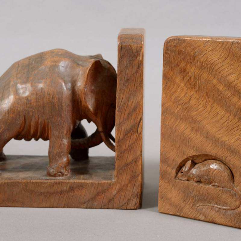 'Mouseman' Elephant Bookends March Away in Auction...